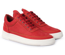 Sneaker Low Top Color Stitching Red