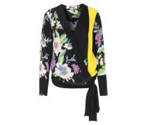 Seiden-wickelbluse Mit Floral-print Curzon