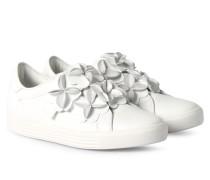 Slipper Town Mit Blütendetails Weiß