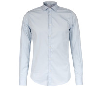 Slim-fit Hemd New Kent-kragen Light Blue