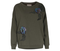 Baumwoll-Sweater mit Stickerei Militare