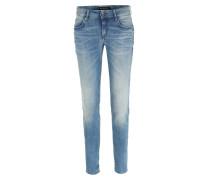 Cropped Skinny Jeans Movie Mittelblau Denim