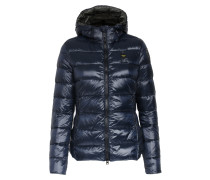 Light-Daunenjacke mit Quersteppung in Navy