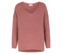 V-pullover Vacaville Im Woll-mix Old Pink