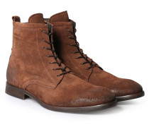 Schnürstiefel Lennon Velours Calf Brown