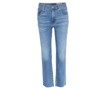 High-waist Straight Cropped Jeans Isabelle