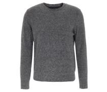 Pullover mit Wolle Mittelgrau