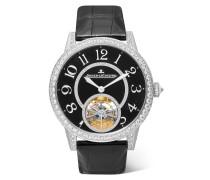 Rendez-vous Tourbillon 39 Mm Uhr Aus  Mit Diamanten Und Alligatorlederarmband