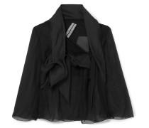 Verkürzte Jacke aus Seidenorganza -