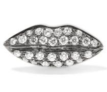 Ohrring Aus 18 Karat Weißgold Mit Diamanten