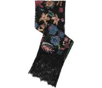 Verzierter Schal Aus Seidenspitze Mit Applikationen -