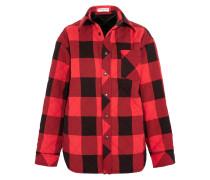 Gestepptes Oversized-hemd Aus Kariertem Canvas - Rot