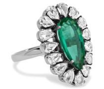 Ring Aus 18 Karat Gold Mit Smaragden Und Diamanten -
