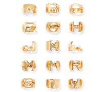 Alphabet vergoldeter Ring