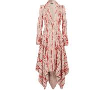 Asymmetrischer Mantel Aus Tweed Mit Fransen -