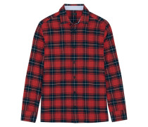Iconics Kariertes Hemd Aus Baumwoll-flanell - Rot