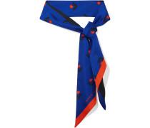 Schal aus Seiden-Twill mit Tulpenprint