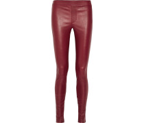 Leggings Aus Stretch-leder -
