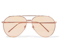 Pilotensonnenbrille Mit Roségoldauflage -