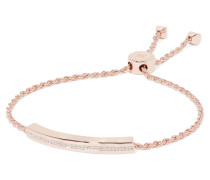 Linear Armband Mit Roségold-vermeil Und Diamanten