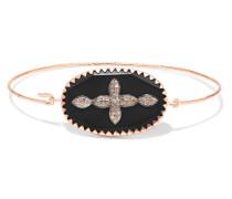 Garance N°2 Armreif aus 9 Karat Gold und Sterlingsilber mit Bakelit® und Diamanten -