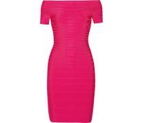 Schulterfreies Bandage-kleid - Pink