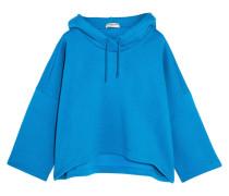 Kapuzenoberteil Aus Woll-jersey - Blau