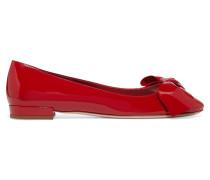 Ballerinas Aus Lackleder Mit Schleifenverzierung - Rot