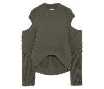 Rippstrickpullover Mit Cut-outs -