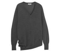Pullover Aus Einer Woll-seiden-kaschmirmischung - Schiefer