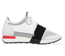 Race Runner Sneakers aus Leder, Veloursleder, Mesh und Neopren