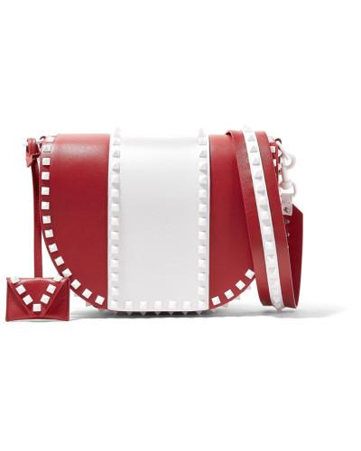 Auslass Wirklich Valentino Damen Garavani Rockstud Zweifarbige Schultertasche aus Leder Verkauf Visum Zahlung Freies Verschiffen Hohe Qualität Rabatt Wählen Eine Beste qCsKEQX