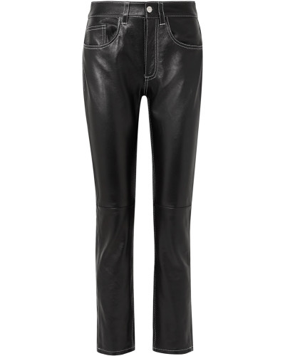 Hose mit Geradem Bein aus Leder
