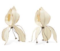 Goldfarbene Ohrringe Mit Details Aus Popeline Und Kristallen -
