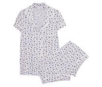 Nightingale Pyjama Aus Bedrucktem Jersey Aus Stretch-modal - Mitternachtsblau
