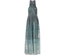 Deven Bedruckte Robe Aus Lamé Aus Einer Seidenmischung - Blau