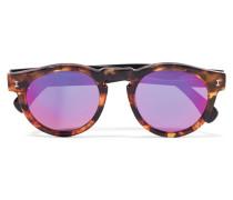 Leonard Verspiegelte Sonnenbrille Mit Rundem Rahmen Aus Azetat In optik