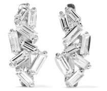 Huggie Ohrringe aus 18 Karat  mit Diamanten