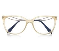 Kitten Azetatbrille Mit Cat-eye-rahmen - Beige