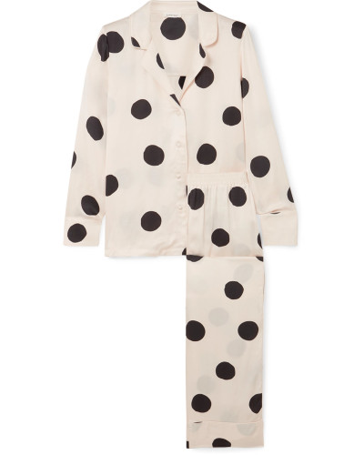 Bluemoon Pyjama aus Satin mit Polka-dots