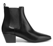 Rock Chelsea Boots Aus Leder - Schwarz