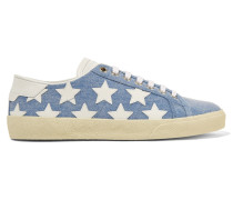Court Classic Sneakers Aus Denim Mit Lederapplikationen - Blau