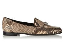 Loafers Aus Pythonleder Mit Horsebit-detail - Schlangen-Print
