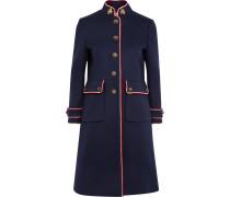 Verzierter Mantel Aus Wollfilz Mit Metallic-besatz -