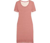 Winward Gestreiftes Kleid Aus Stretch-jersey - Tomatenrot
