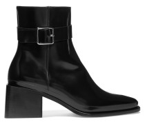 Ankle Boots Aus Glanzleder -