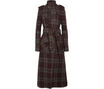 Trenchcoat Aus Kariertem Bouclé-tweed -