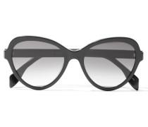 Sonnenbrille Mit Butterfly-rahmen Aus Azetat Mit Polarisierten Gläsern - Schwarz