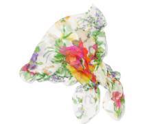 Schal Aus Floral Bedrucktem Seiden-georgette Mit Rüschen -