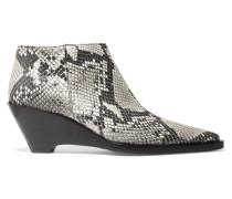 Cammie Ankle Boots Aus Leder Mit Schlangeneffekt - Schlangen-Print
